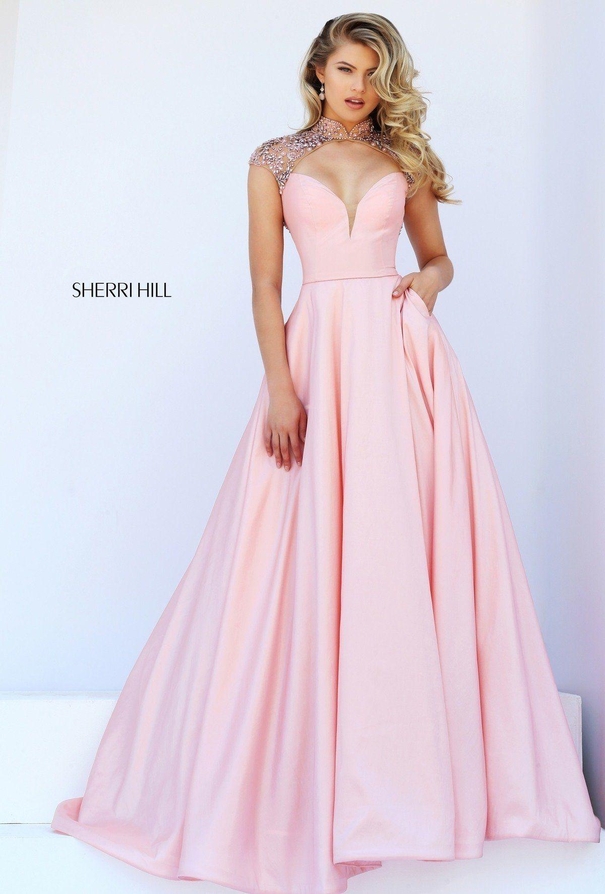 5a75c7bed2a103 Sherri Hill Style 50004. Sherri Hill Style 50004 Розовые Платья Для Выпускного  Вечера ...