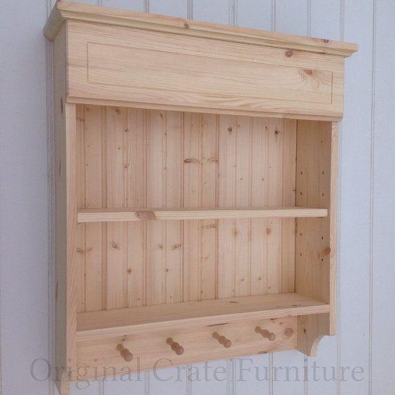 Natural Pine Kitchen Cabinets: Spice Rack Shelf Unit Kitchen Cabinet Wooden Wall Storage