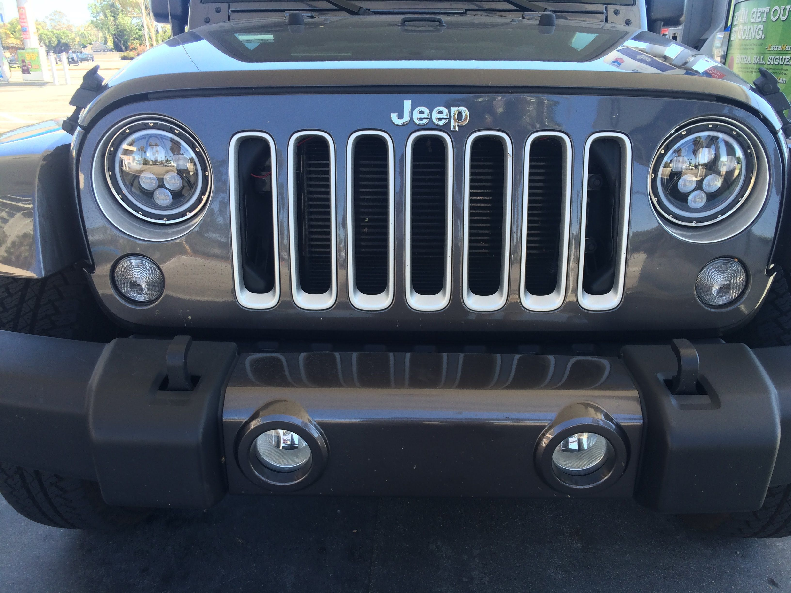 Led Halo Headlight Upgrade On A Jeep Jk