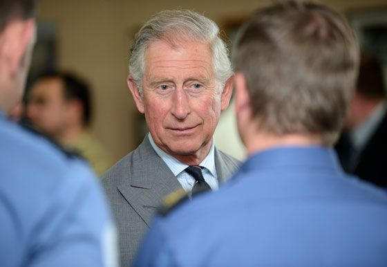 The Duke chats to naval staff at the mess in Faslane Naval Base on the Clyde.