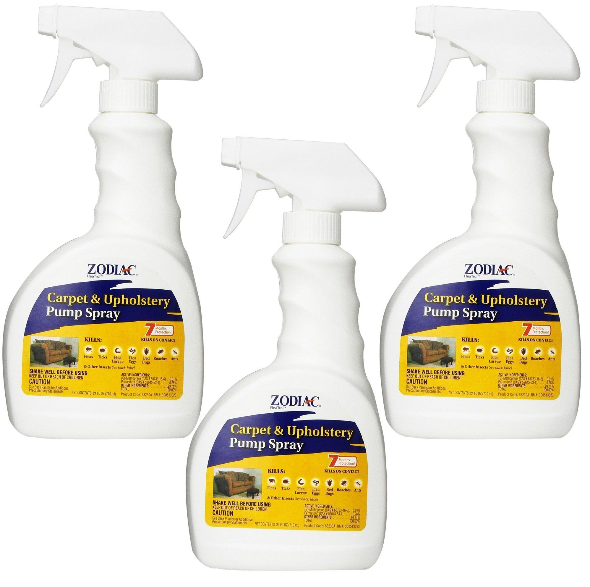 (3 Pack) Zodiac Flea Control Carpet and Upholstery Pump