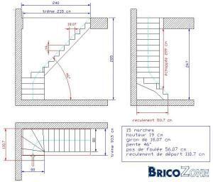 comment dessiner un escalier 1 4 tournant house plans. Black Bedroom Furniture Sets. Home Design Ideas