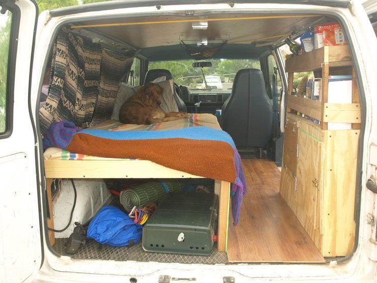 Simple van conversion ideas for van pinterest vans for Teardrop camper kitchen ideas