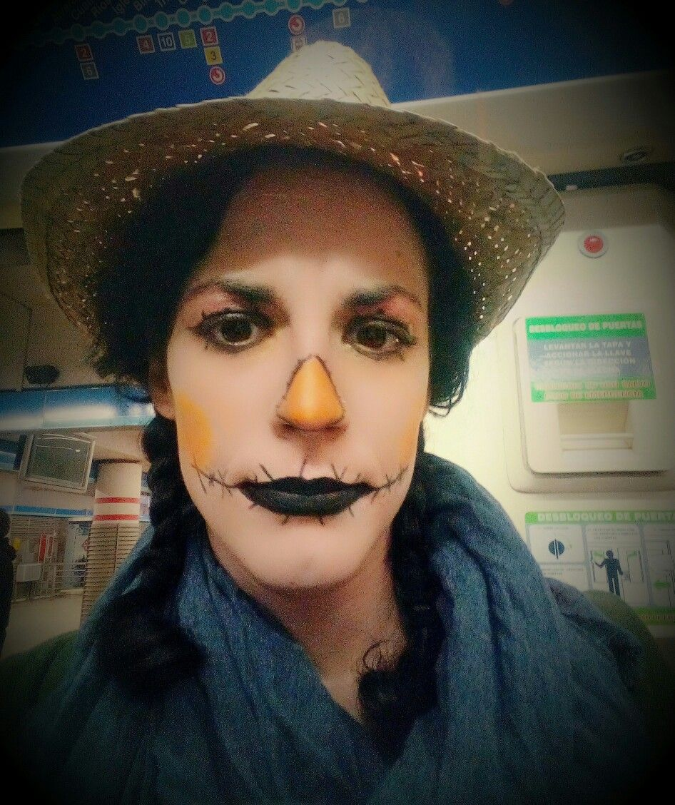 Maquillaje de espantapájaros Halloween Disfraz original