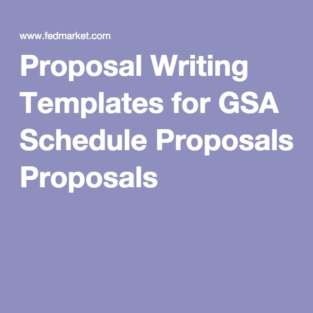 Proposal Writing Templates For Gsa Schedule Proposals Gsa
