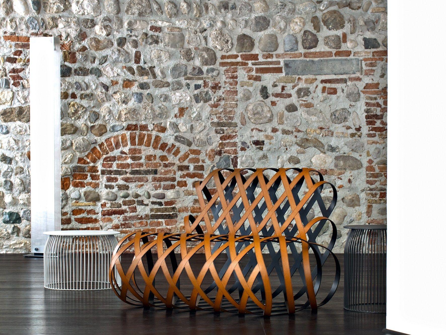 Relaxing steel armchair ARIA by La Cividina design Antonio Rodriguez