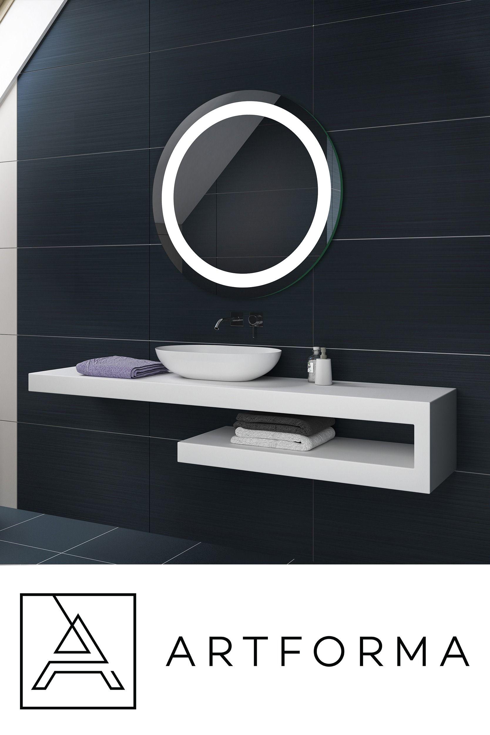 Illumination LED miroir sur mesure eclairage salle de bain L16