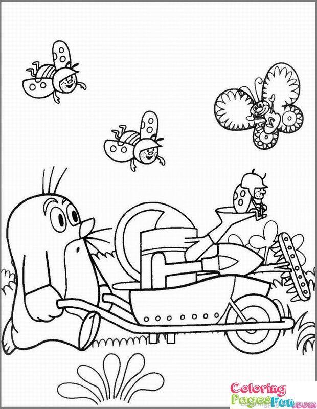 ausmalbild für kinder mit dem kleinen maulwurf pauli