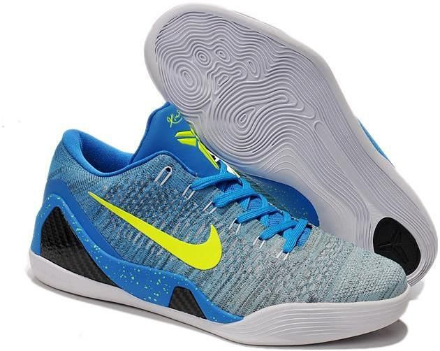 size 40 58d16 95193 Nike Kobe 9 Elite Low Custom Blue Gray | New Kobe 9 Men for ...