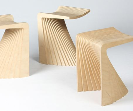 Fanned Out Plywood Perches   Pleat Stool Has The Graceful Silhouette Of A  Spinning Girl In A Gown (GALLERY) Nice Look