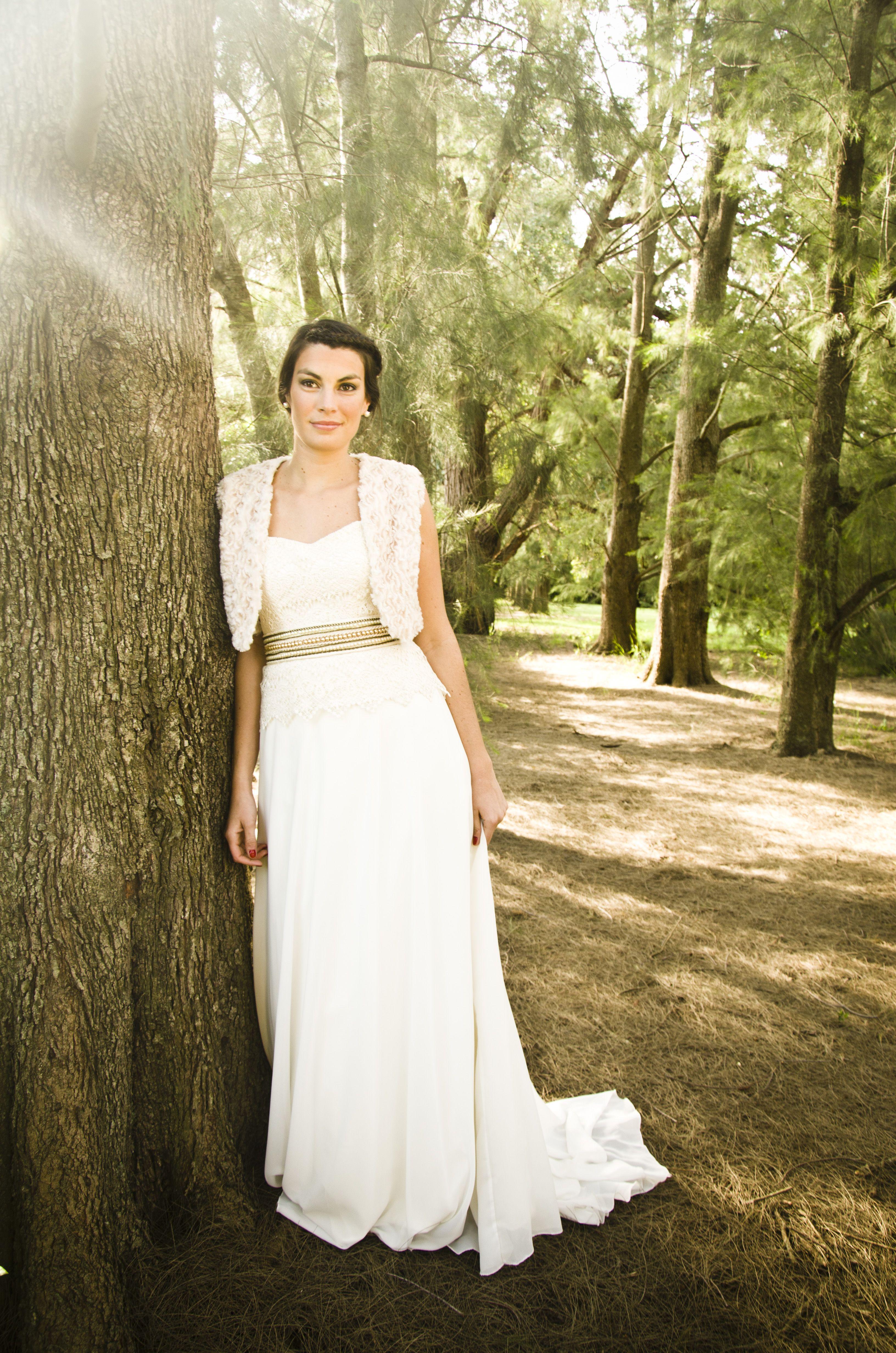 6adbcc40a Vestido de novia romántico y campestre para tu casamiento ...