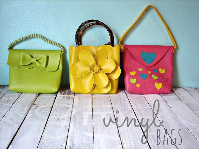 vinyl bags–easy and cute