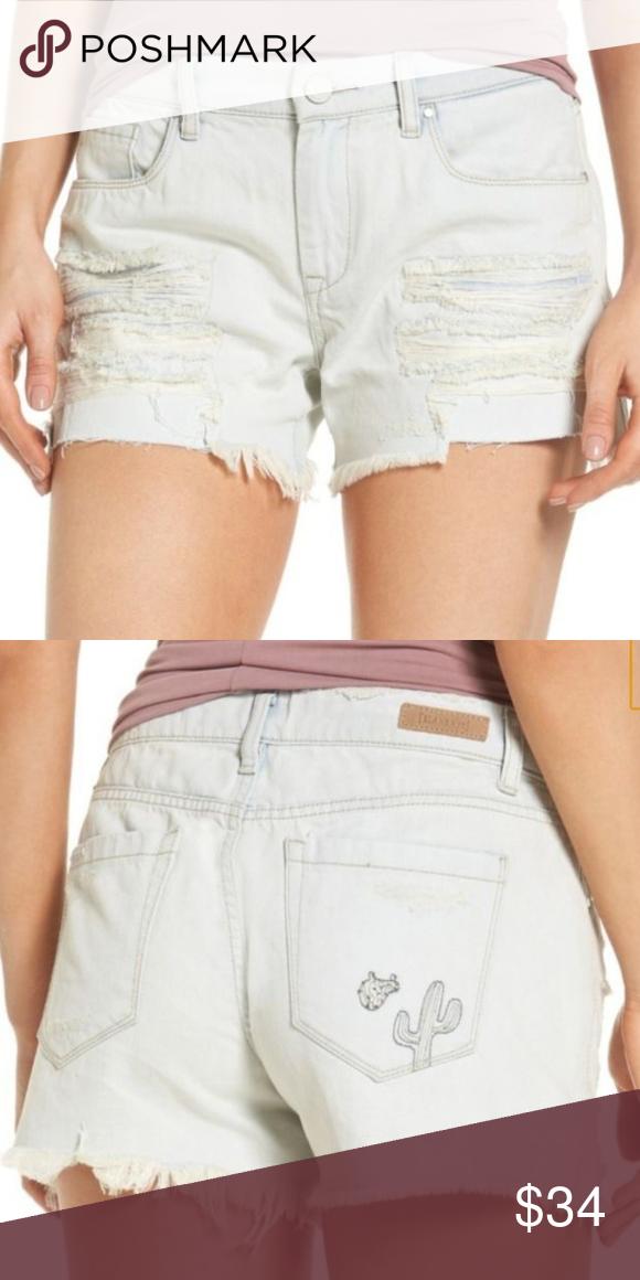 447464d23159 Blank NYC women tomboy denim jean distressed Blank NYC women Sunbaked denim  jean distressed tomboy shorts, 100% cotton Blank NYC Shorts Jean Shorts