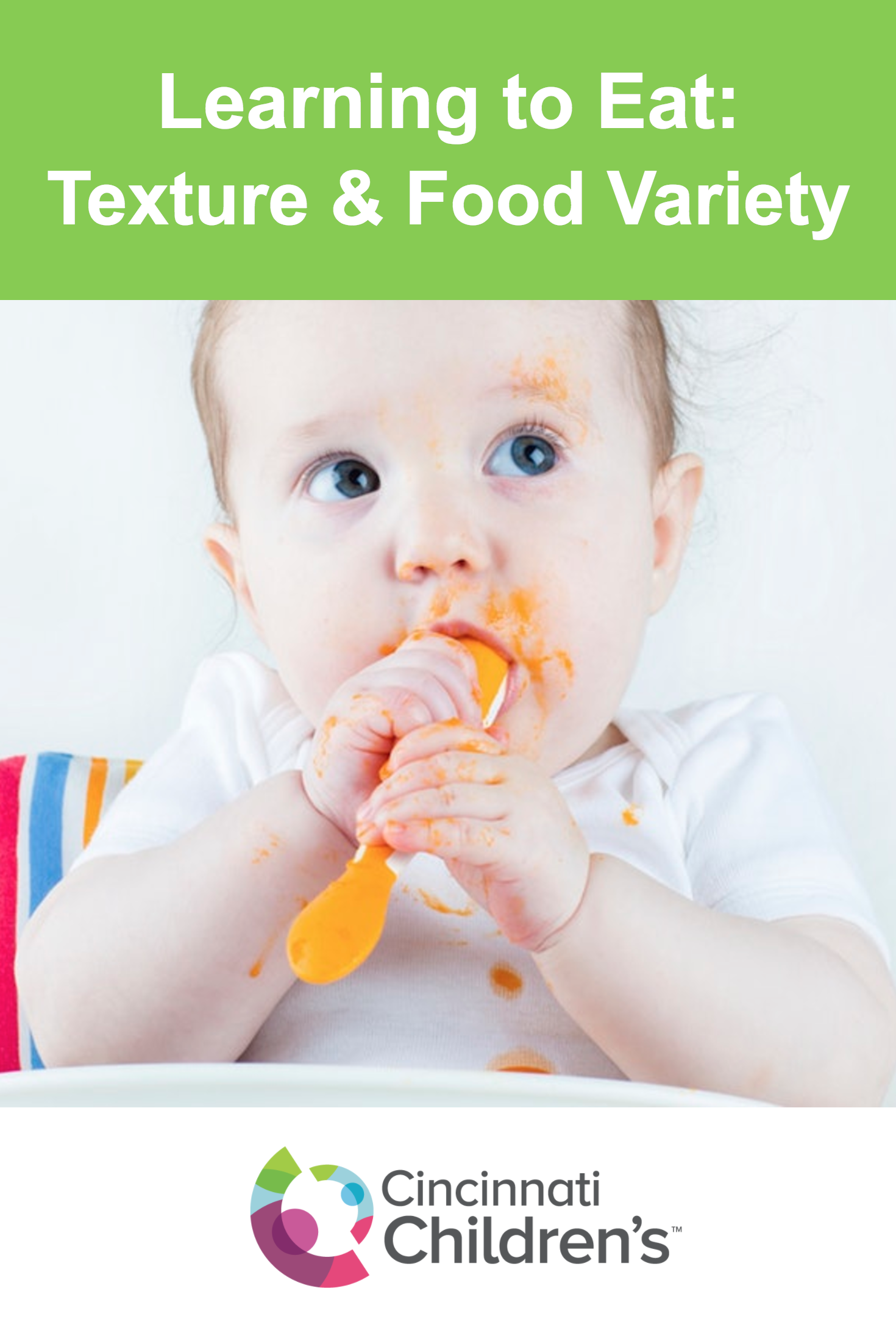 Learning To Eat The Importance Of Texture And Food Variety Cincinnati Children S Blog Kids Health Cincinnati Children S Childrens Health