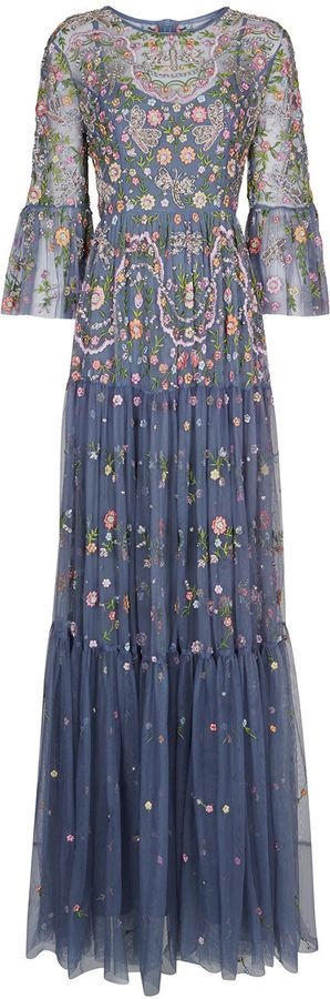 8e1ddb1d2ab Needle   Thread Slate Blue Dragonfly Garden Maxi Dress