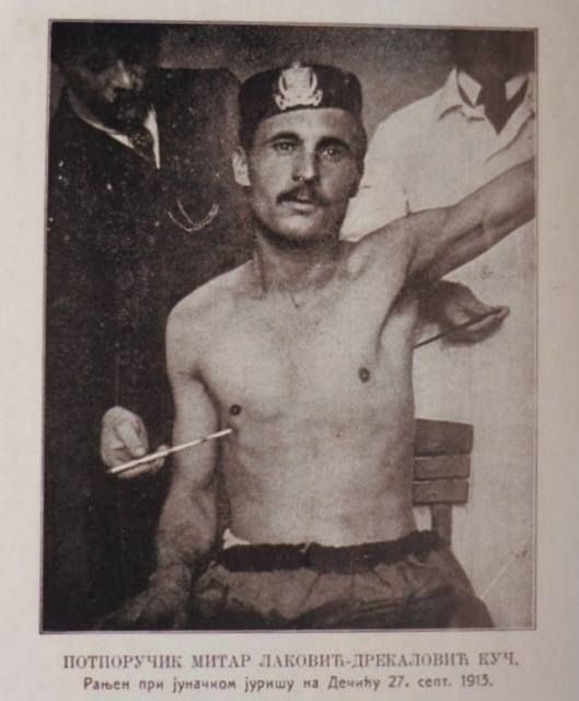 Lt. Mitar Lakovic-Drekalovic, wounded during the attack on Drina, Sept. 27th 1913