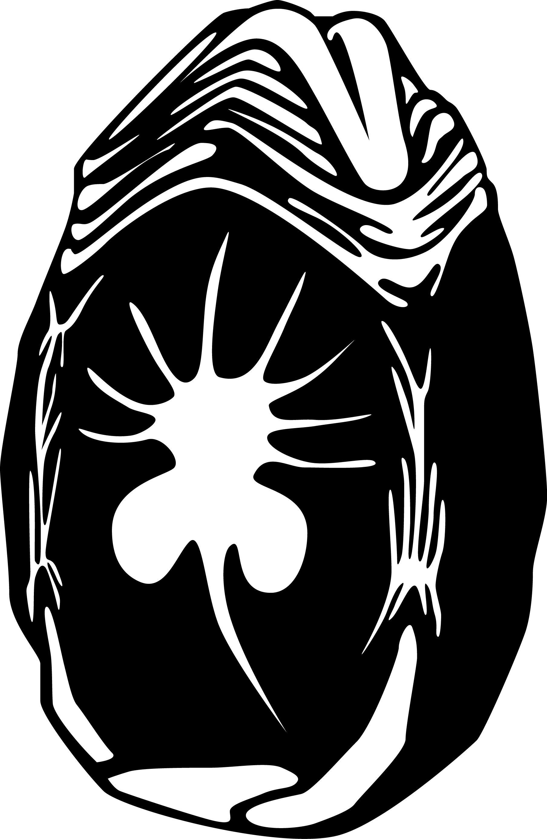 Uovo Alien. L'illustrazione dell'uovo di Alien per un biglietto d'auguri intagliato con la laser cutter. #giuliabasolugrafica #graphic #illustration #drawing #illustrator #digitalart #vector #alien