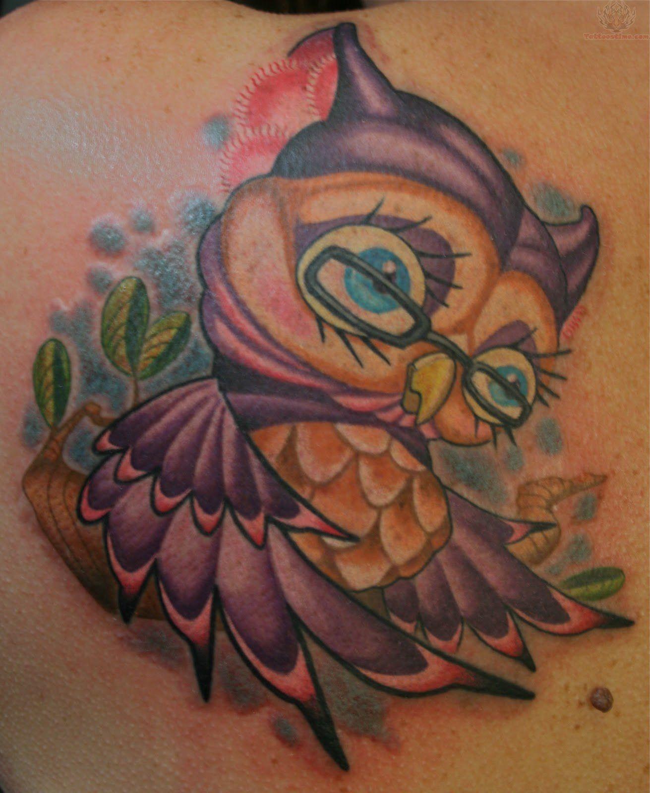 Cartoon Owl Tattoos