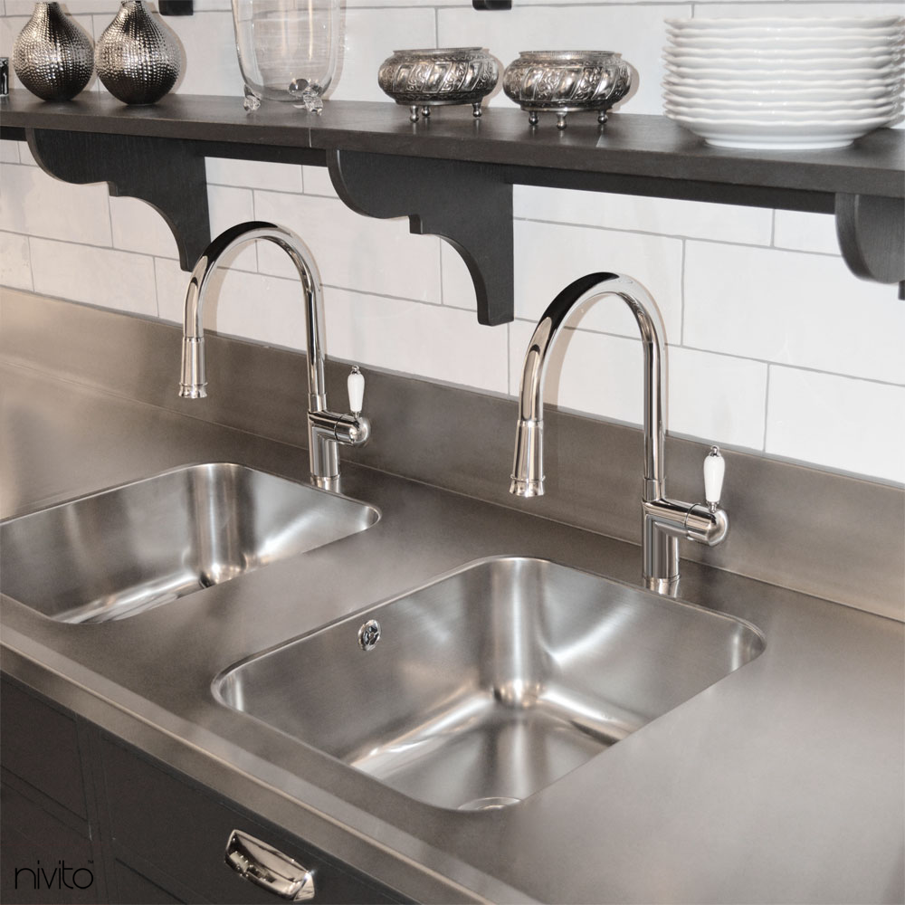 Kitchen Faucet Pullout Hose White Porcelain Handle Color Quality Interior Design Home Interior Design Cool House Designs