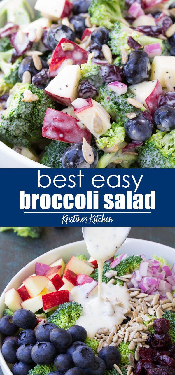 Broccoli Salad - Best Easy, Healthy Recipe!