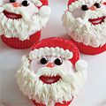 Santa Cupcakes: not that I would take that much time but oh well