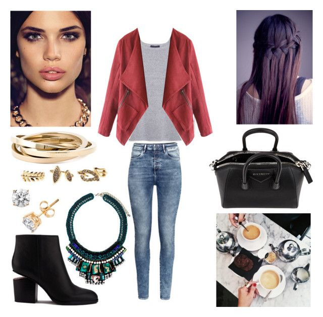 """""""07/08/15"""" by milena-serranista ❤ liked on Polyvore featuring H&M, MANGO, Nocturne, Alexander Wang, Dsquared2, Charlotte Russe and Givenchy"""