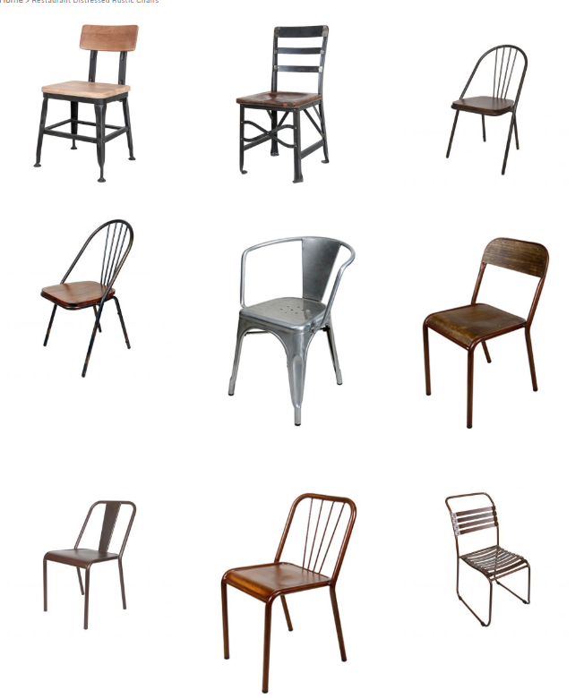Our wide variety of wholesale distressed and rustic chairs
