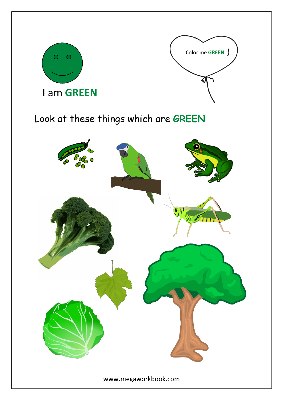 Color Recognition Worksheets For Preschool Learn Basic Colors Green Learning Colors Toddler Color Learning Colors For Toddlers [ 1403 x 992 Pixel ]