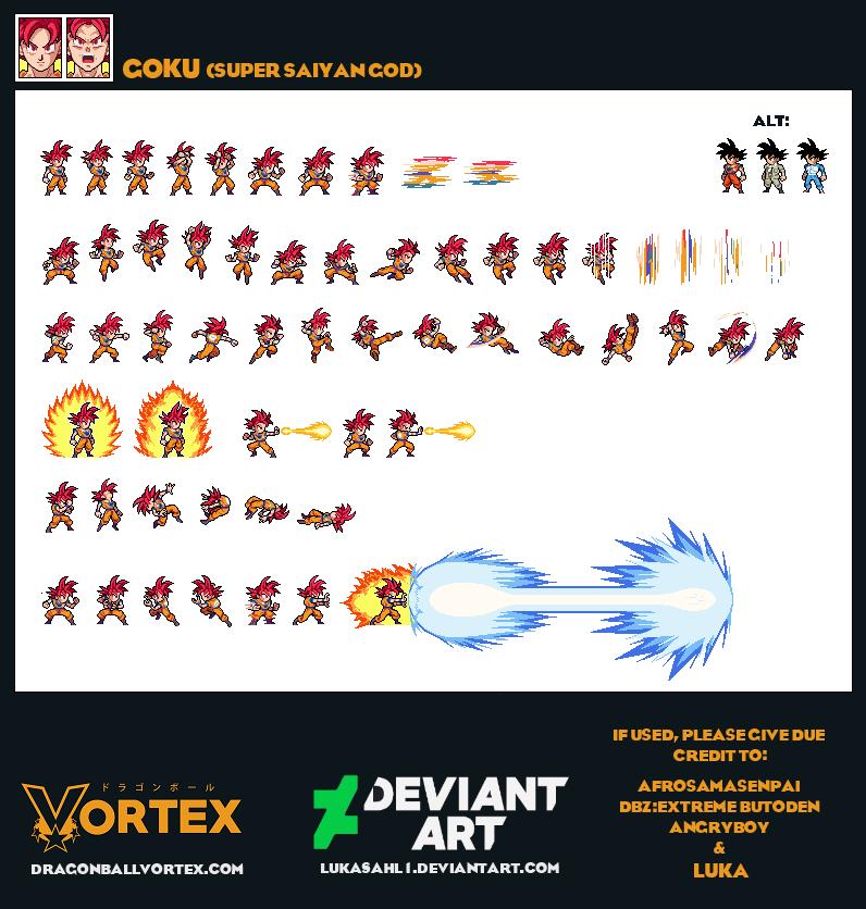 Goku Super Saiyan God By Lukasahl1 On Deviantart Effectssprites