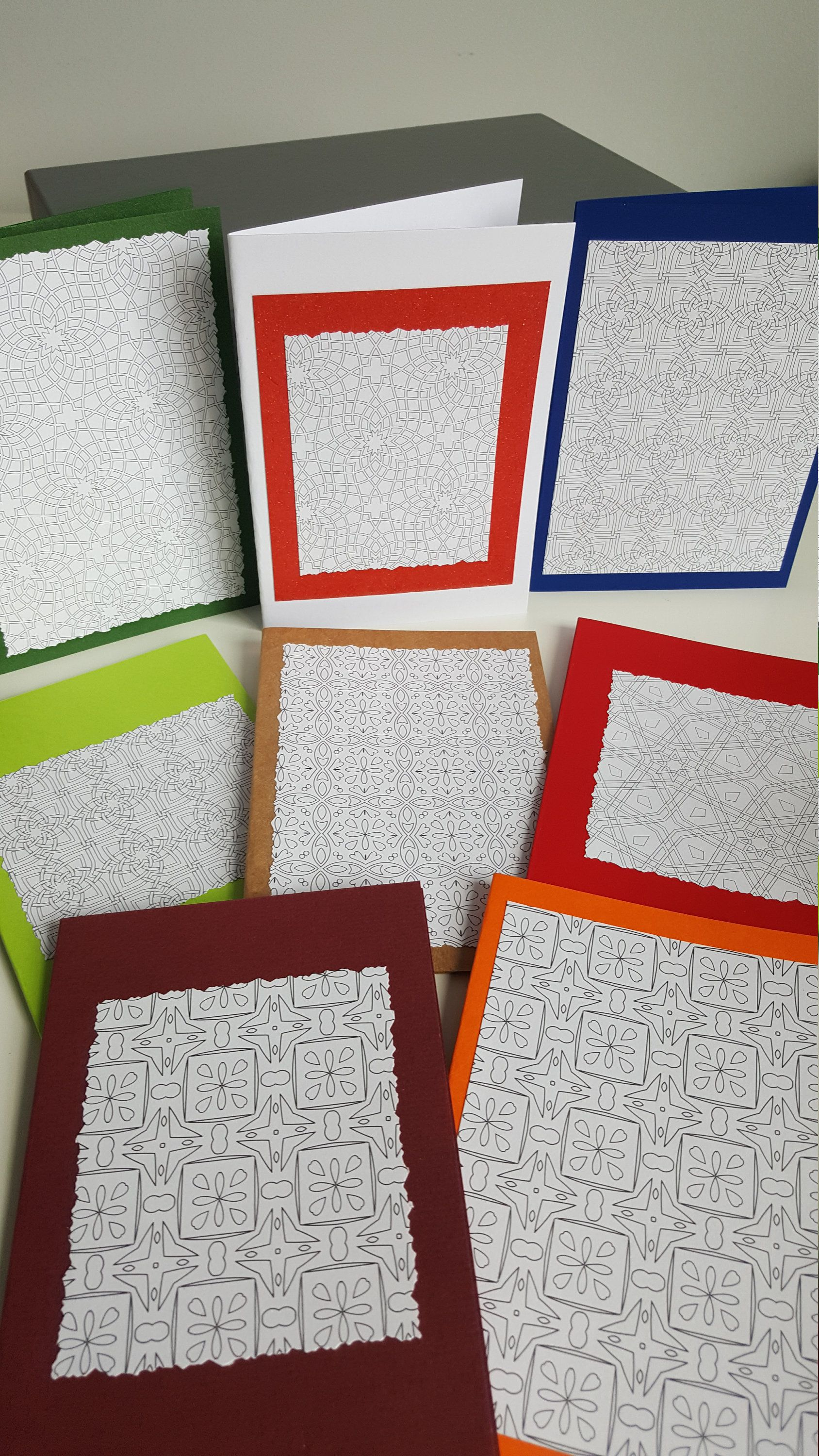 Color In Blank Cards Colour Your Own Greeting Card Handmade Design