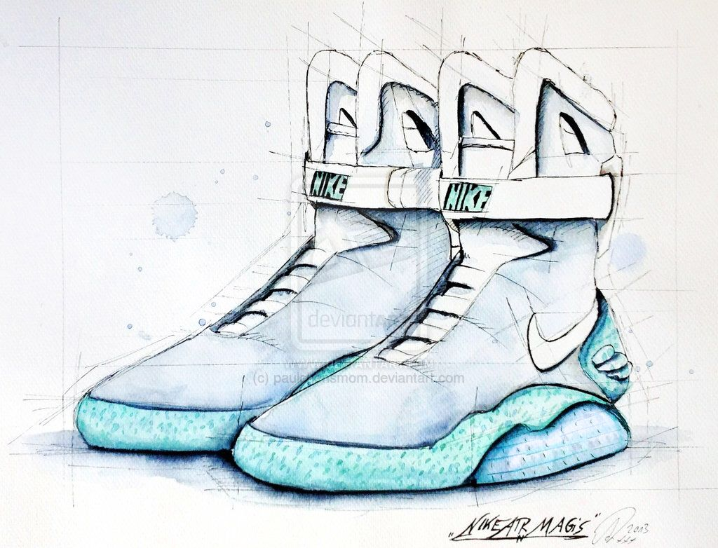 nike air mag drawings pinterest nike air mag and