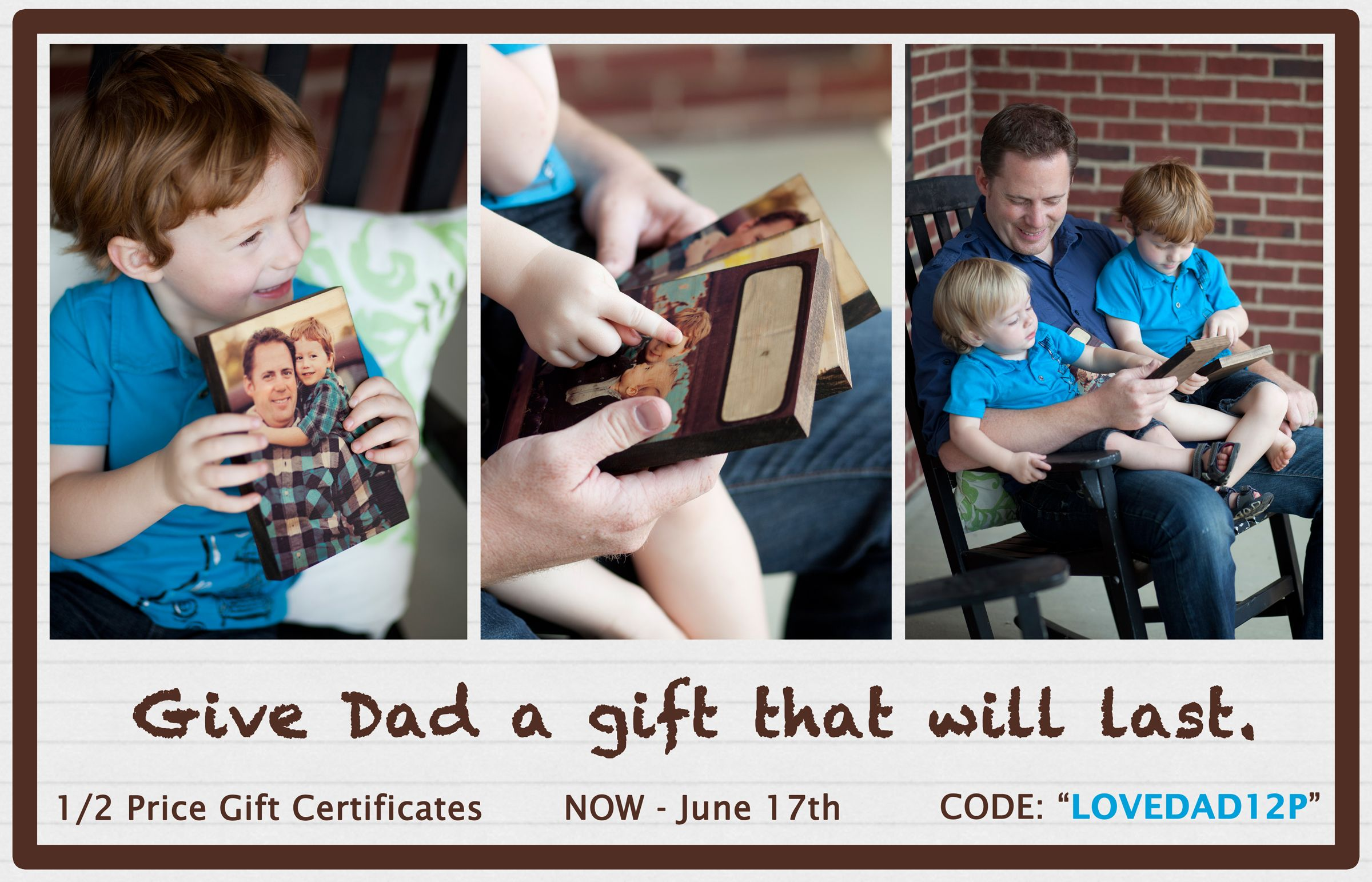 Photo Barn Father's Day Sale on photo boards!