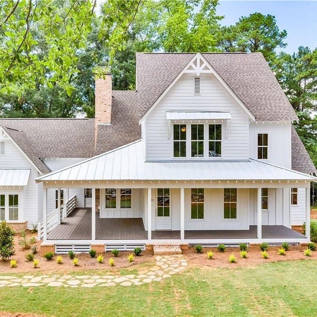 42 Minimalist Home Exterior Design Model Rustic Farmhouse