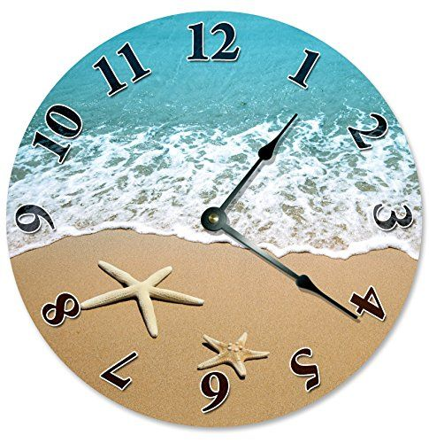 Maritime Decoration Wall Clock  Starfish Decorative