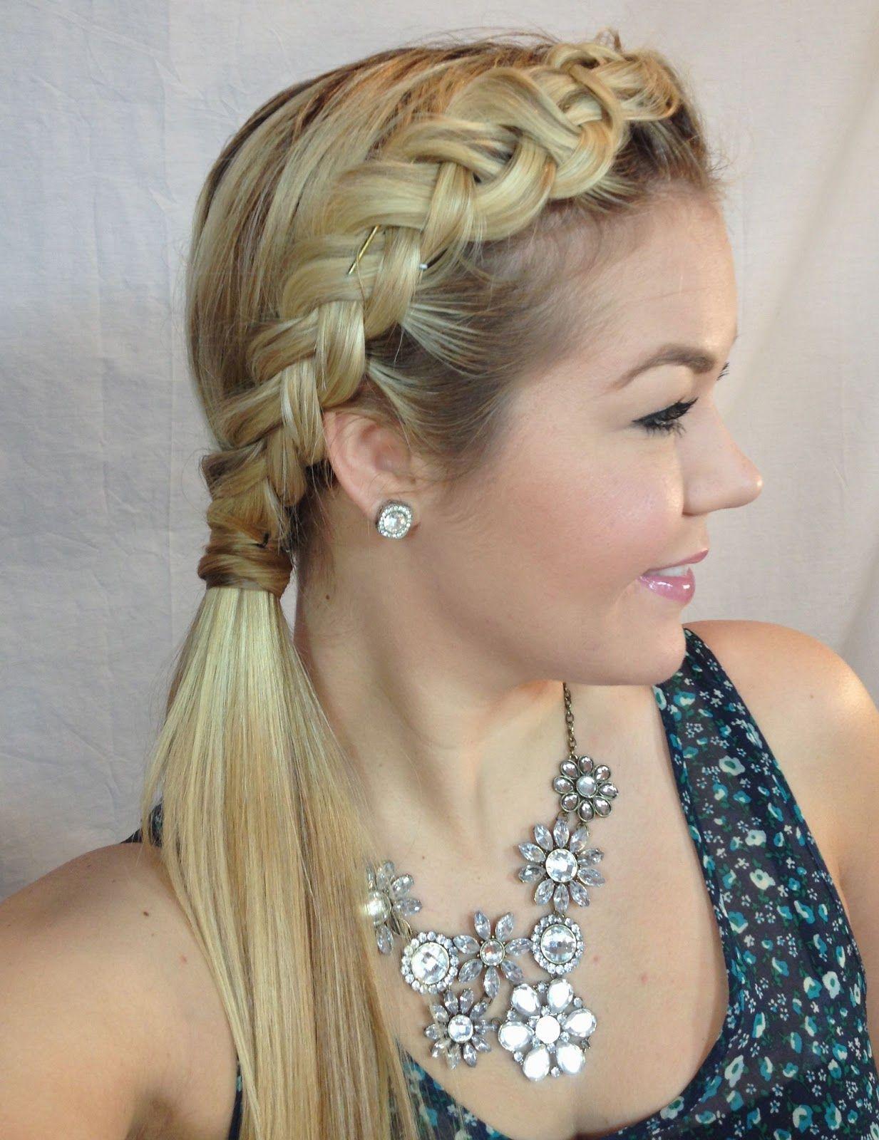 Pancake braid into ponytailbun tutorial hair pinterest