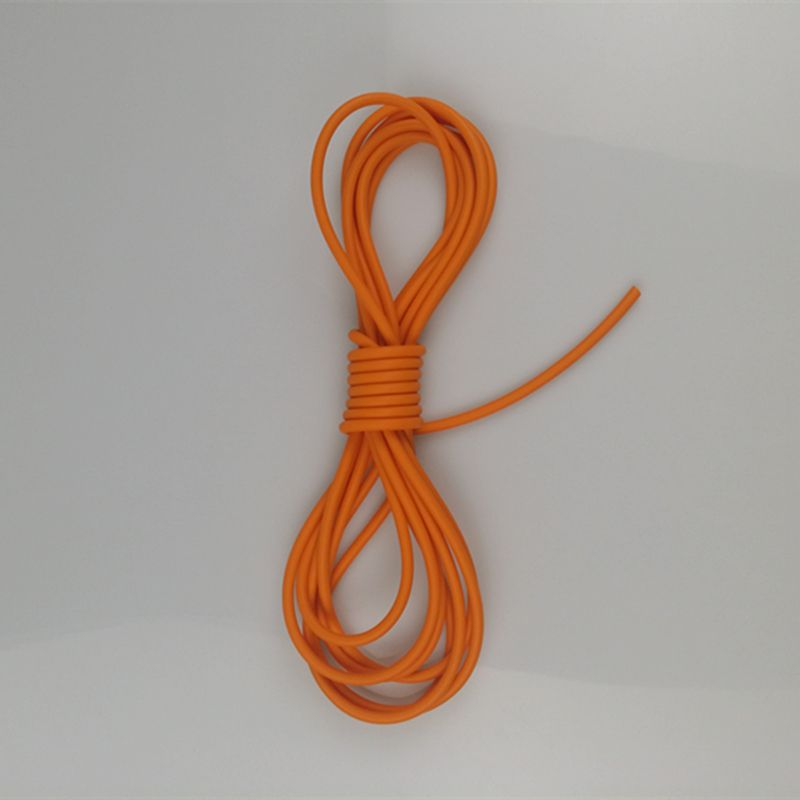 Hunting 5 Mm Artillery Shells Orange Slingshot Crossbow Hunting Elastic Bungee Part Fitness Equipment Natural Latex Rubber Hose 5 M