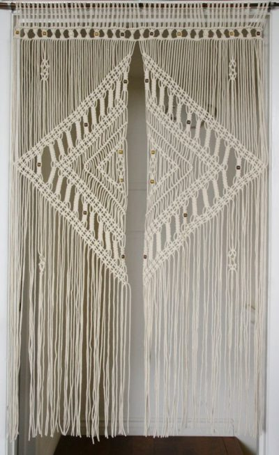 9 Diy Patterns For Macrame Curtains Inhabit Zone Macrame Curtain Macrame Door Curtain Vintage Macrame Wall Hanging