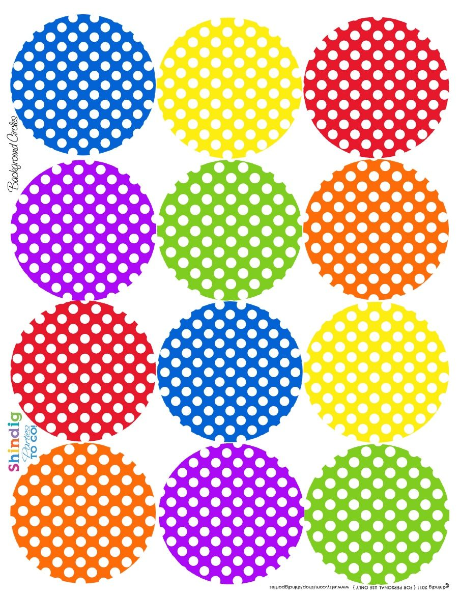 Dot labels. CUTE!
