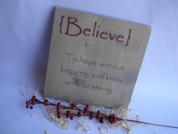 meaning of believe christmas sign rustic chic christmas decor on etsy decor. Black Bedroom Furniture Sets. Home Design Ideas