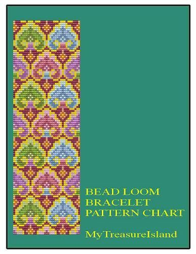 Bead Loom Vintage Sajou 3 Motif Bracelet by MyTreasureIsland