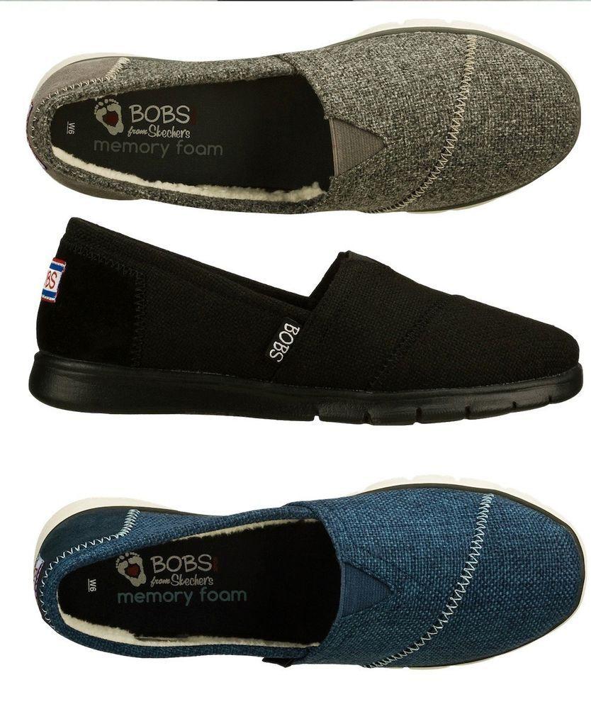 SKECHERS BOBS PUREFLEX Womenu0026#39;s Memory Foam Slip-on Flats Shoes 33606 Size 6-11 | Memory Foam ...
