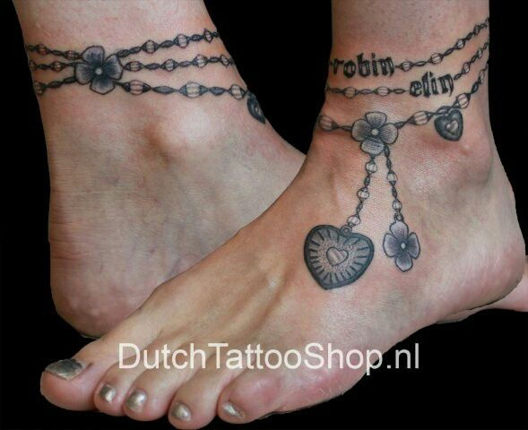 Tattoo Image By Amy Brake Ankle Bracelet Tattoo Anklet Tattoos For Women Feet Tattoos