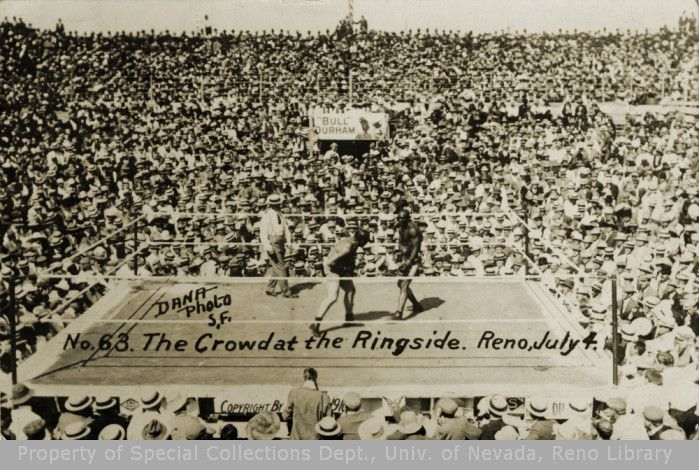 This was the first time that an arena was constructed for one single fight. The battleground was a great octagonal wooden structure, open to the skies and sufficient to accommodate 22,000 persons, including the standees on the top level.