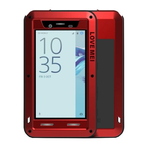 [$18.09] LOVE MEI for Sony Xperia X Compact Professional and Powerful Dustproof Shockproof Anti-slip Metal + Silicone Combination Case(Red)