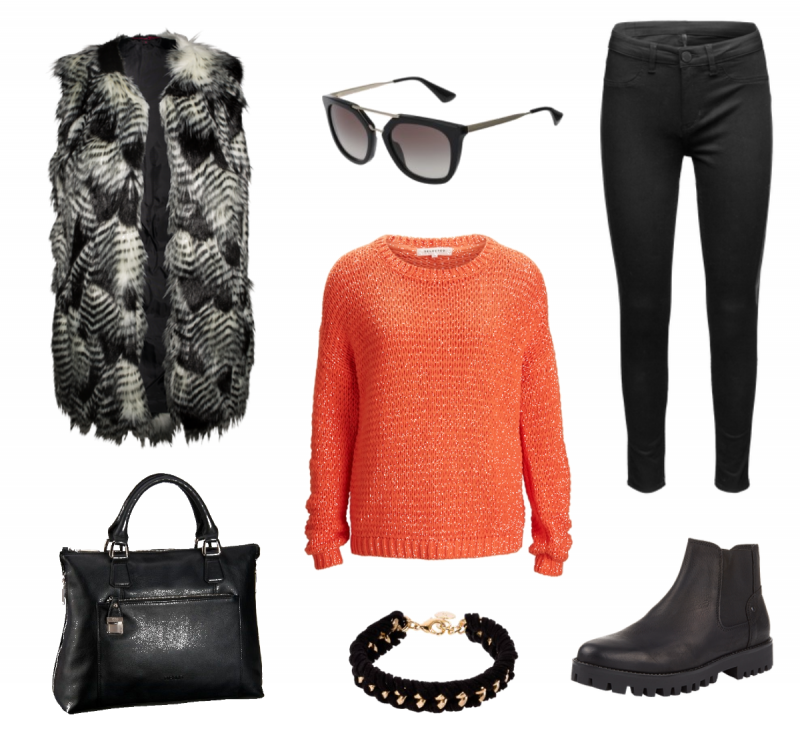 #Herbstoutfit Orange with Black ♥ #outfit #Damenoutfit #outfitdestages #dresslove
