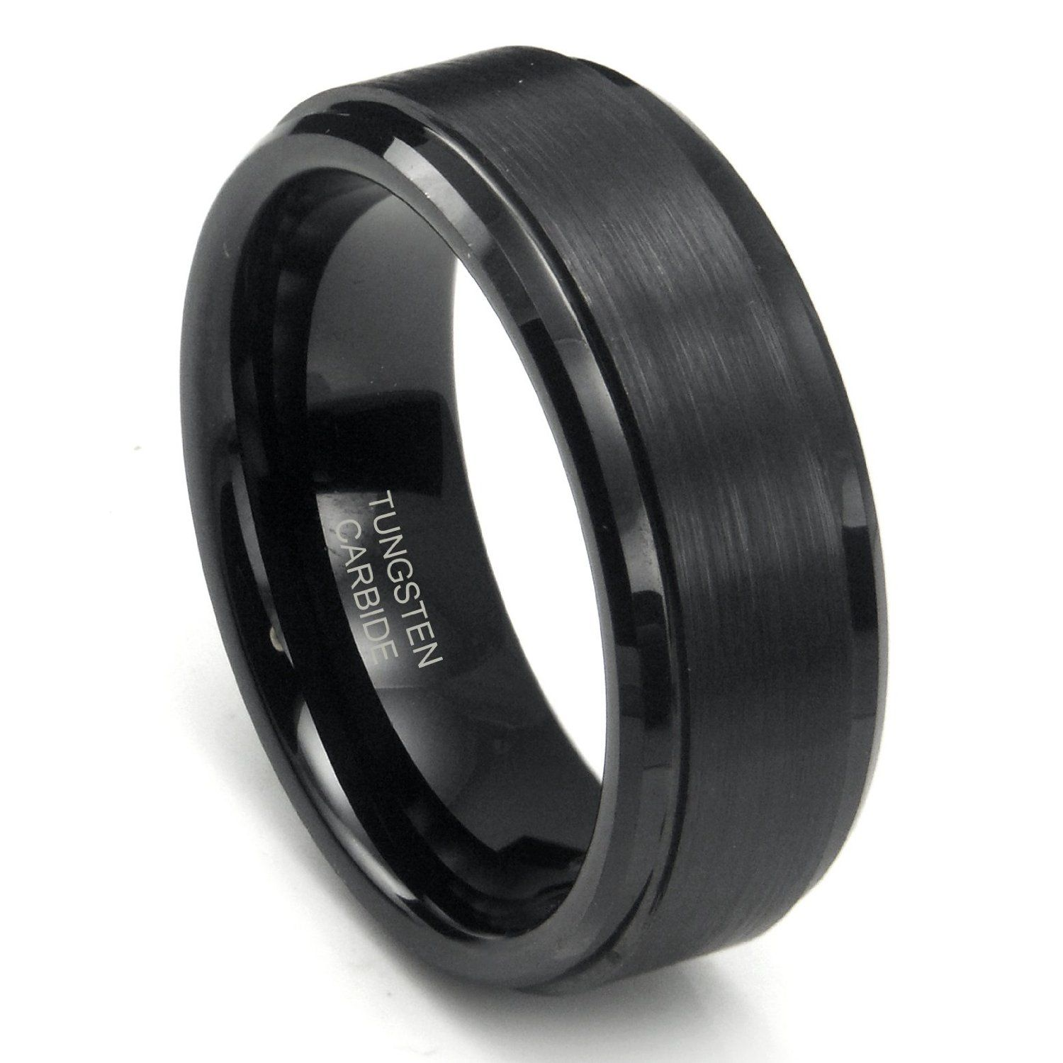 mens black wedding bands jonathans wedding band pinterest