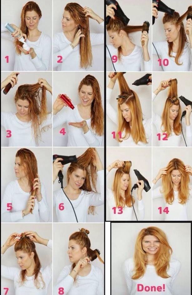 Step By Step Learn To Blow Dry You Hair And Have Beautiful Volume Blow Dry Hair Straight Blow Dry Hair Curls Blow Dry Hair