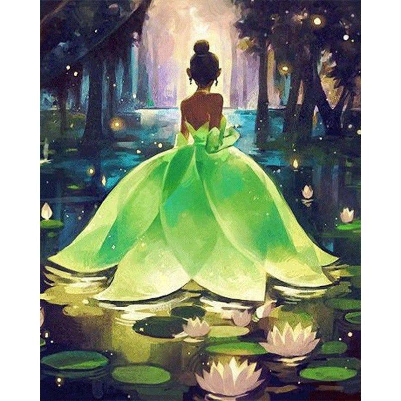 DIY 5D Full Diamond Painting Cross Stitch Fairy Princess Mosaic Diamond Embroidery Needlework Patterns Rhinestone kits #disneyprincess