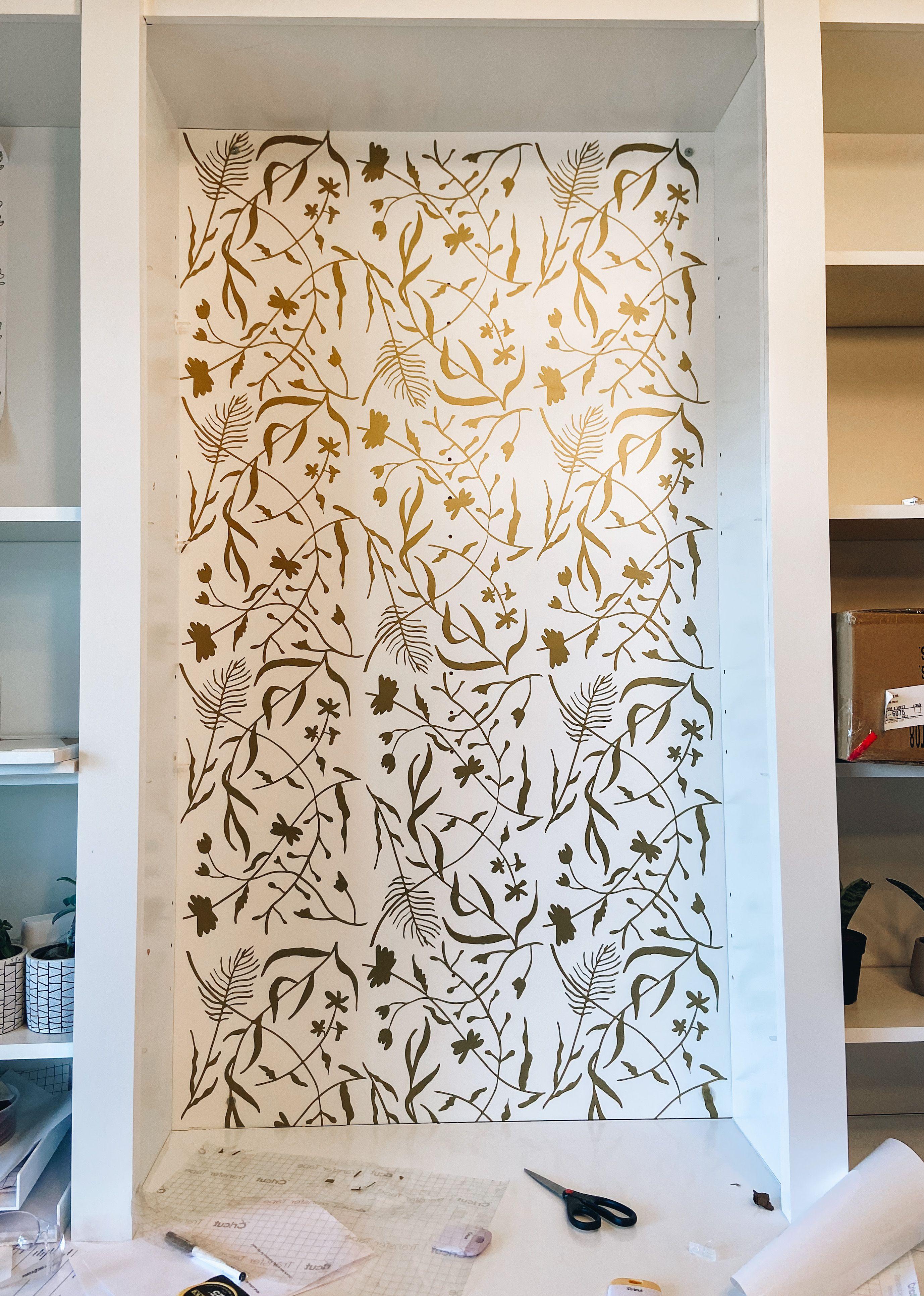 Diy Cricut Wallpaper Wall Vinyl Decor Diy Cricut Make Your Own Wallpaper
