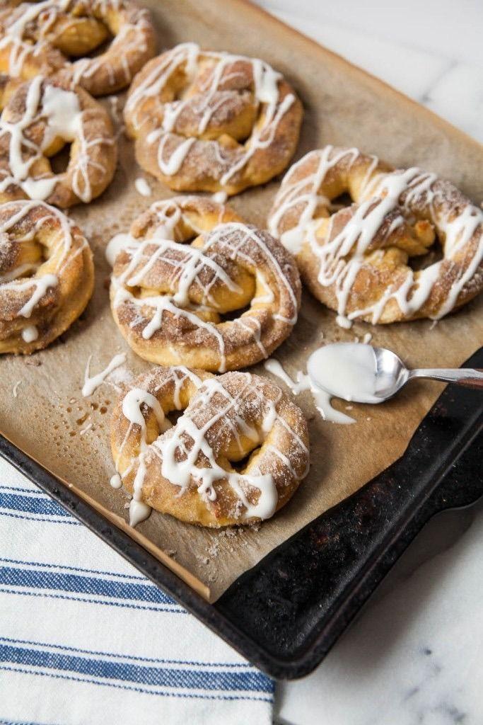 Cardamom Soft Pretzels With Orange Flower Water Glaze recipe.